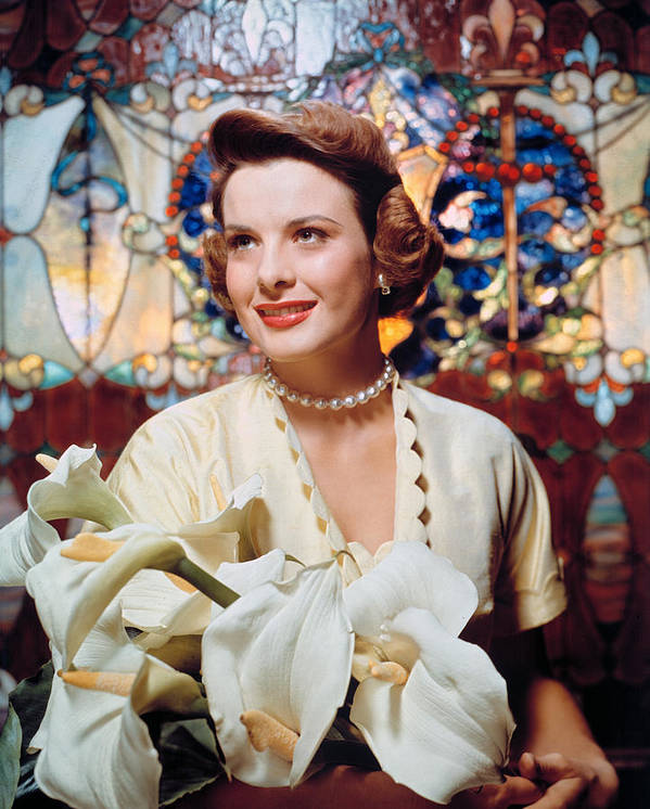 1950s Fashion Poster featuring the photograph Jean Peters, 1950s Portrait by Everett