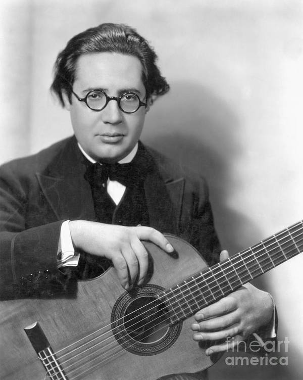 1928 Poster featuring the photograph Andres Segovia by Granger
