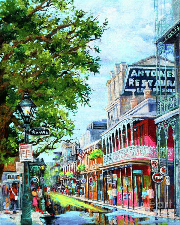 New Orleans Art Poster featuring the painting Antoine's by Dianne Parks