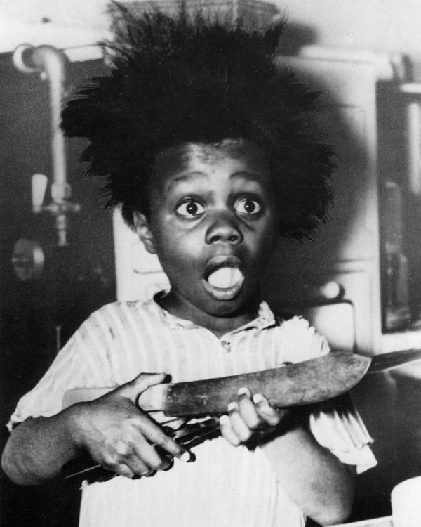 Our Gang Poster featuring the photograph Buckwheat Hair by Buckwheat