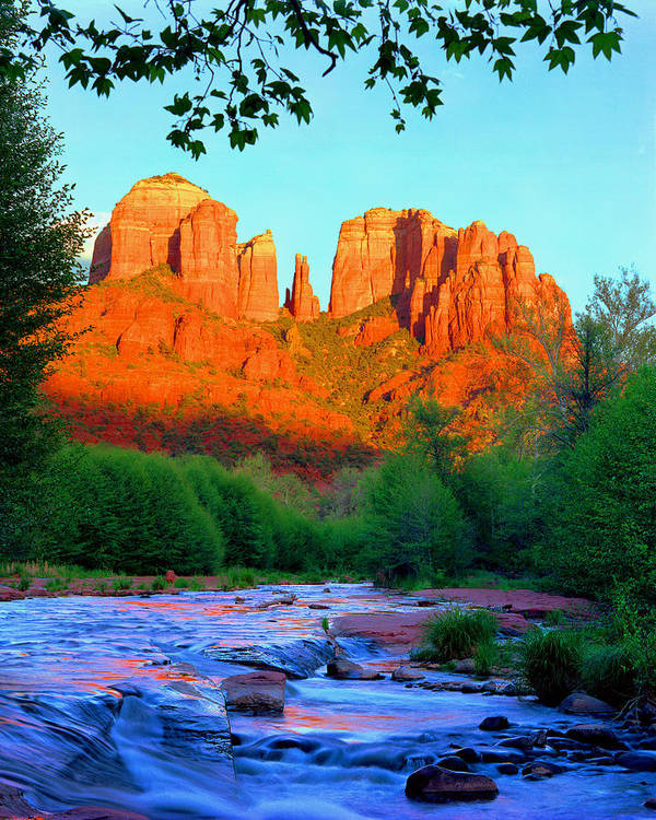 Sedona Poster featuring the photograph Cathedral Rock by Frank Houck