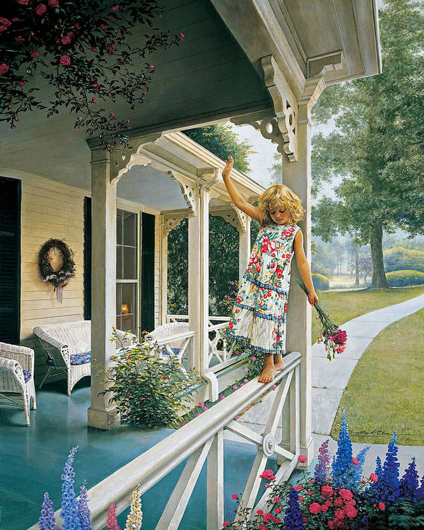 Little Girl Poster featuring the painting Delicate Balance by Greg Olsen
