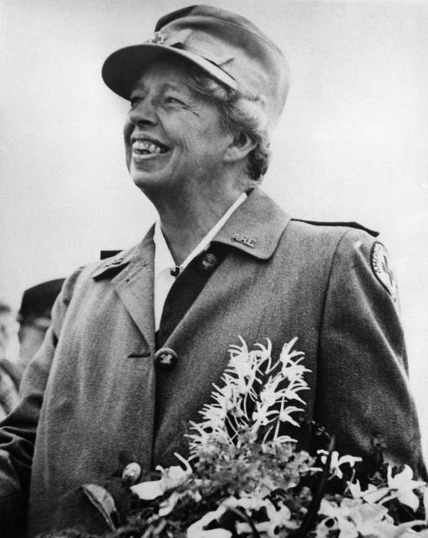 1940s Poster featuring the photograph Fdr Presidency. Eleanor Roosevelt by Everett