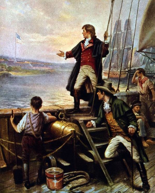 Historical Poster featuring the photograph Francis Scott Key, 1779-1843 Awakes by Everett