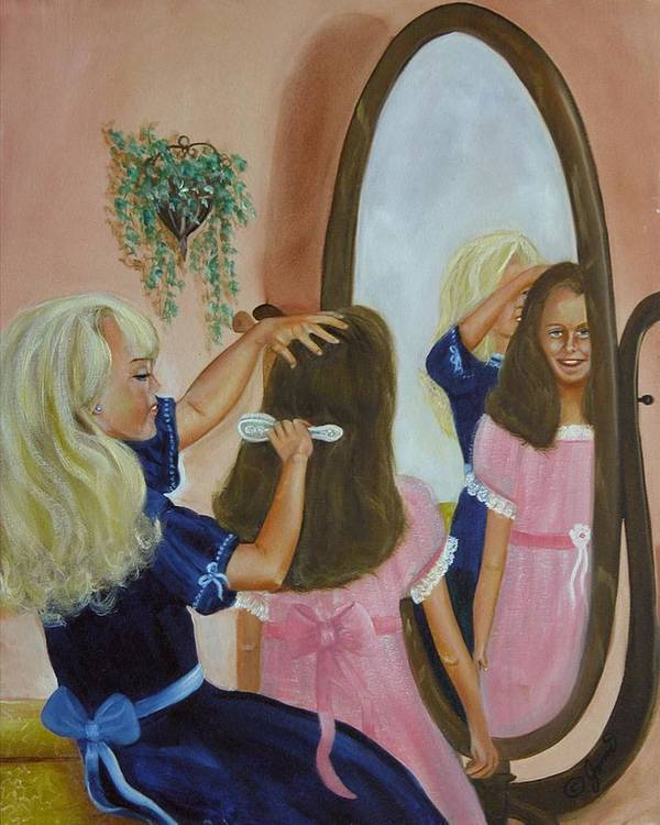 Children Poster featuring the painting Getting Ready by Joni McPherson