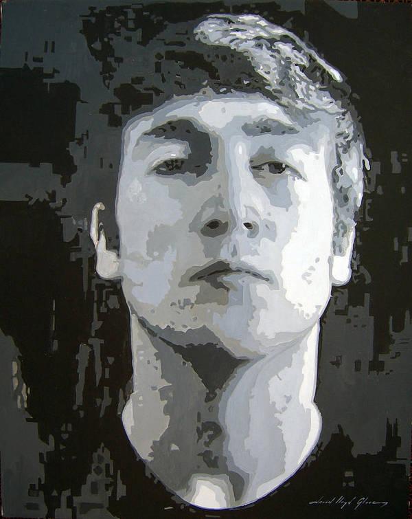 John Lennon Art Poster featuring the painting John Lennon - Birth Of The Beatles by David Lloyd Glover