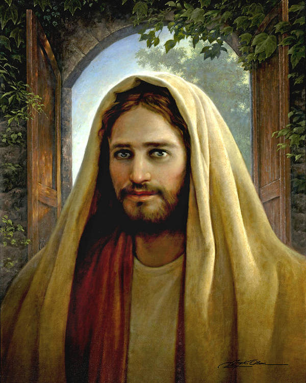 Jesus Poster featuring the painting Keeper Of The Gate by Greg Olsen