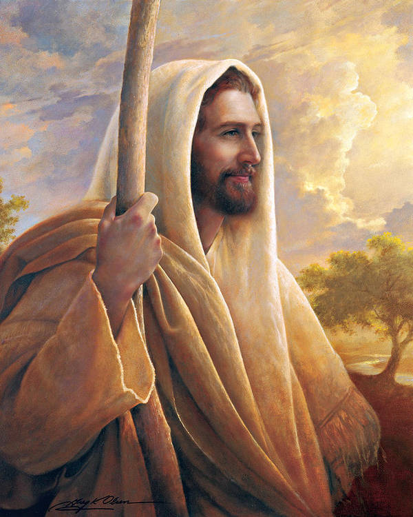Light Of The World Poster featuring the painting Light Of The World by Greg Olsen