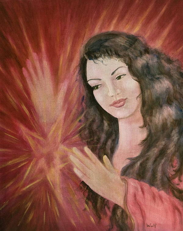 Magic Poster featuring the painting Magic - Morgan Le Fay by Bernadette Wulf