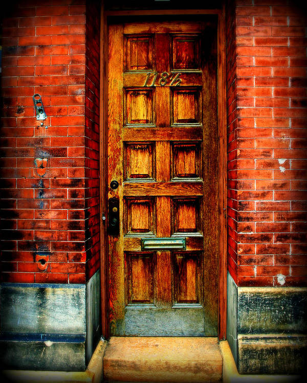 Brick Poster featuring the photograph Old Door by Perry Webster