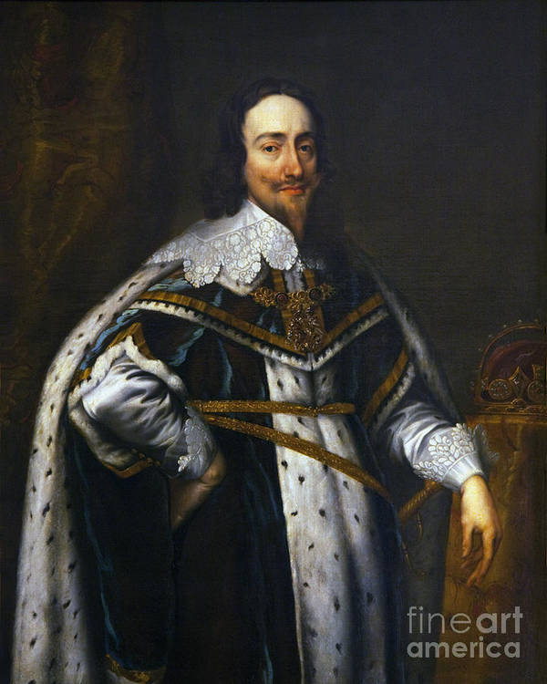 Portrait Poster featuring the photograph Portrait Of King Charles I After Van Dyck by Peter Barritt