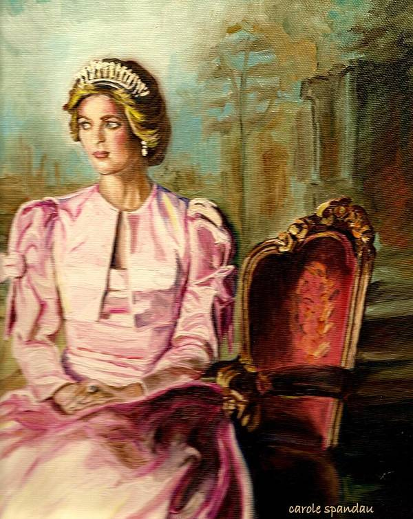Princess Diana Poster featuring the painting Princess Diana The Peoples Princess by Carole Spandau