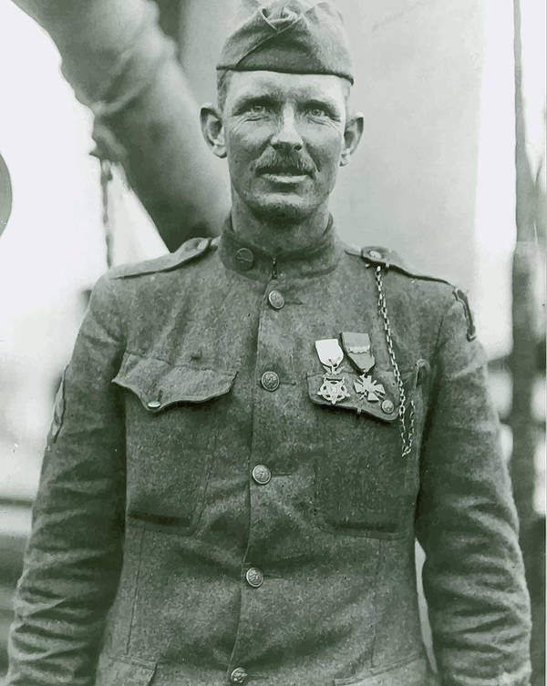 Sergeant York Poster featuring the painting Sergeant Alvin York by War Is Hell Store