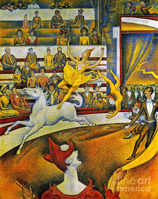 1891 Poster featuring the photograph Seurat: Circus, 1891 by Granger