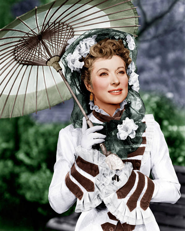 1940s Portraits Poster featuring the photograph That Forsyte Woman, Greer Garson, 1949 by Everett