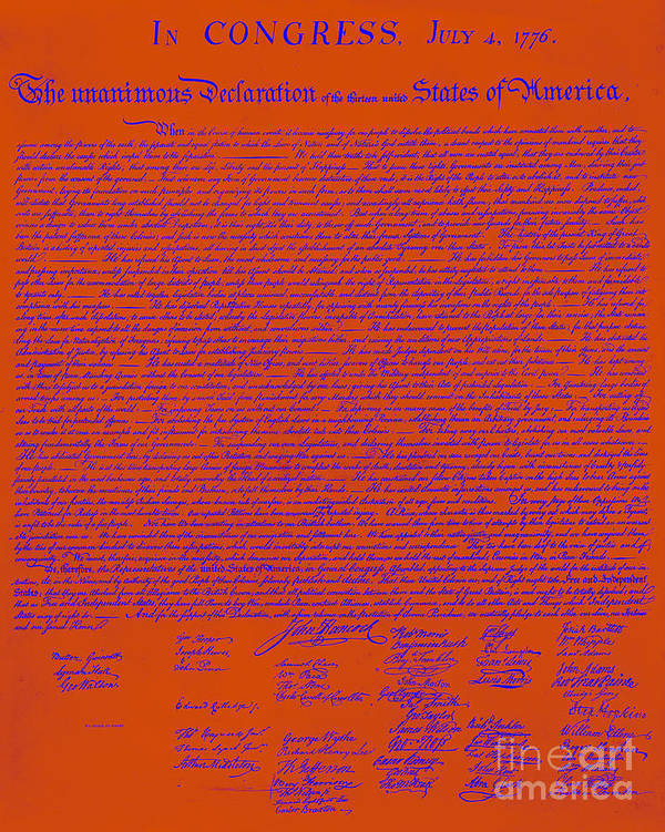 Usa Poster featuring the photograph The United States Declaration Of Independence 20130215m108 by Wingsdomain Art and Photography