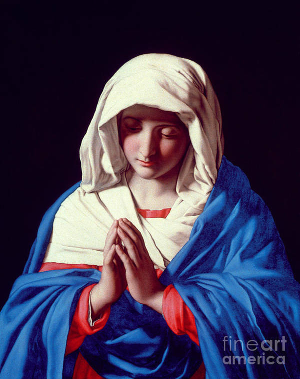 Mary Poster featuring the painting The Virgin In Prayer by Il Sassoferrato