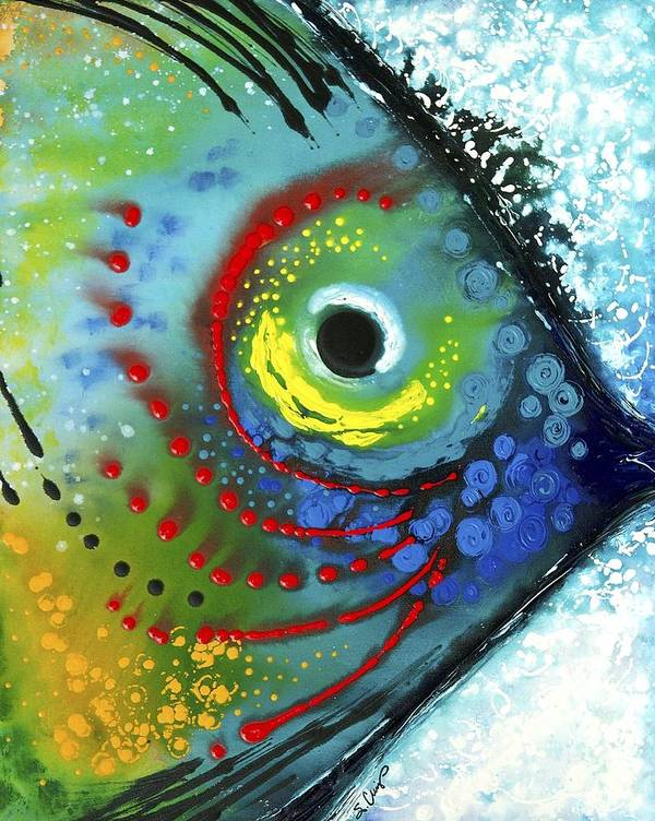 Animals Art Poster featuring the painting Tropical Fish by Sharon Cummings