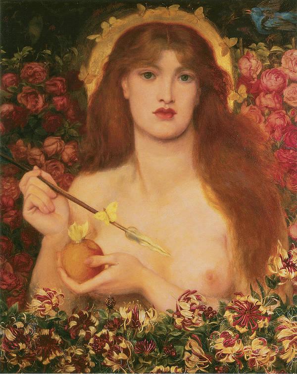 Dante Gabriel Rossetti Poster featuring the painting Venus Verticordia by Dante Gabriel Rossetti