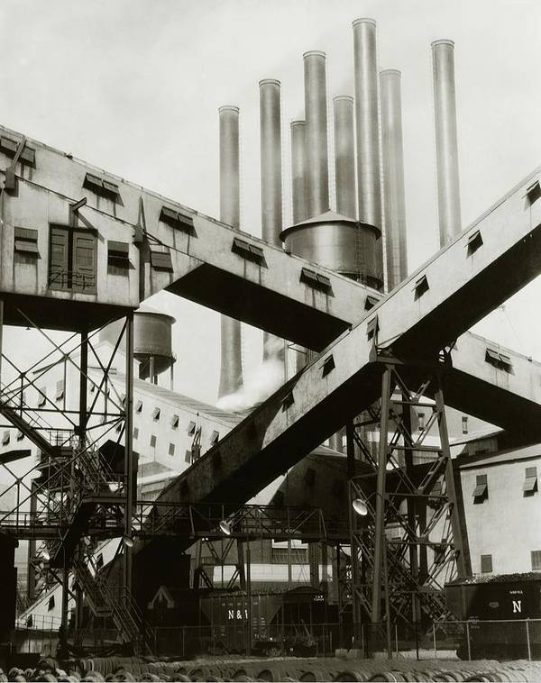 Detroit Poster featuring the photograph A Ford Automobile Factory by Charles Sheeler