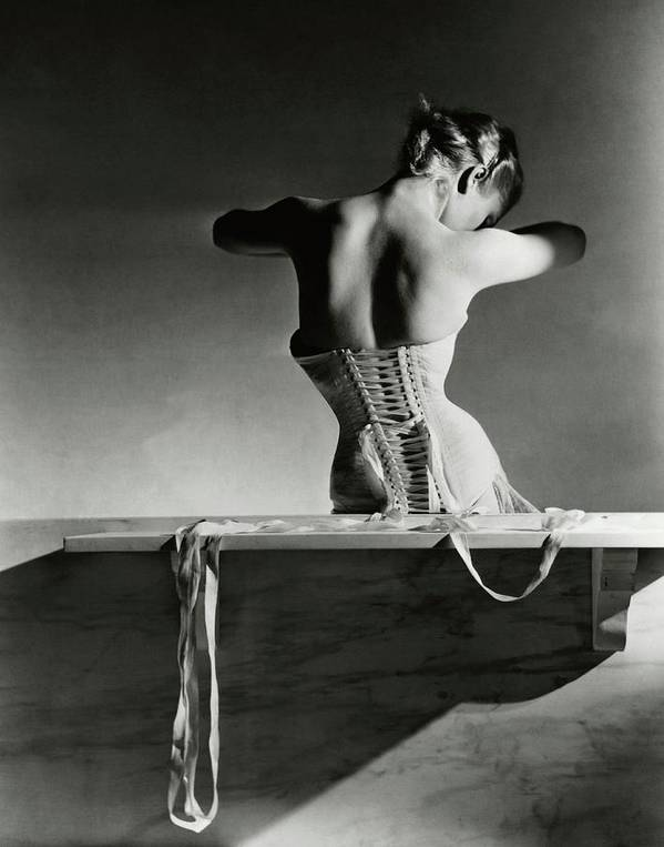 Accessories Poster featuring the photograph The Mainbocher Corset by Horst P Horst