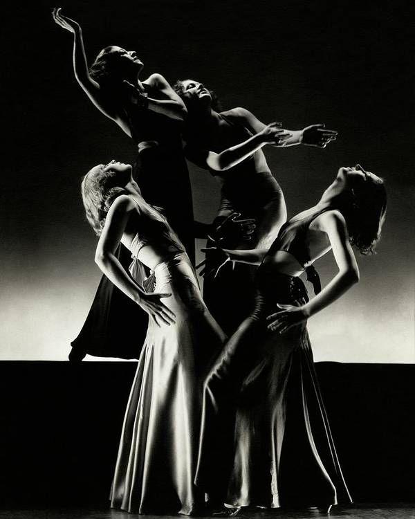 Beauty Poster featuring the photograph Four Dancers Of The Albertina Rasch Ballet Group by Edward Steichen