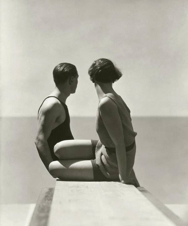 Outdoors Poster featuring the photograph The Divers by George Hoyningen-Huene