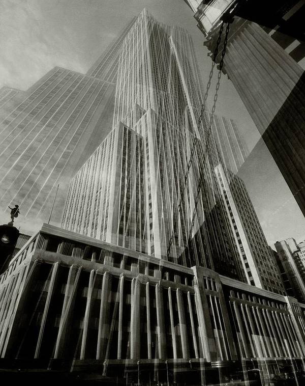 Architecture Poster featuring the photograph Multiple Exposure Of The Empire State Building by Edward Steichen