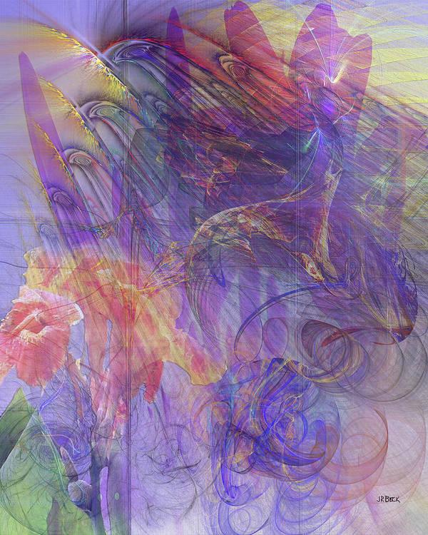 Summer Awakes Poster featuring the digital art Summer Awakes by John Robert Beck