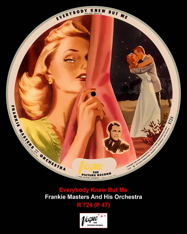 Vogue Picture Record Poster featuring the digital art Vogue Record Art - R 724 - P 47 by John Robert Beck