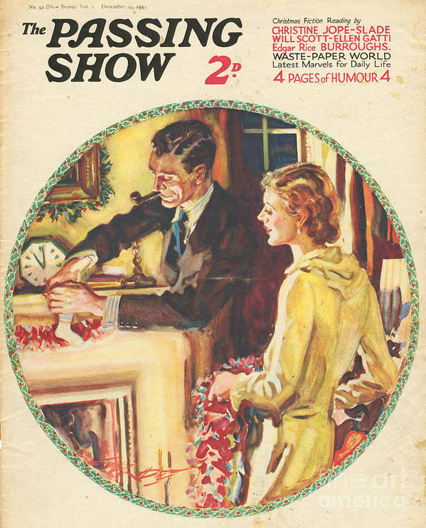 Stockings Poster featuring the drawing 1930s,usa,the Passing Show,magazine by The Advertising Archives