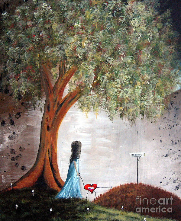 Fairy Tale Poster featuring the painting It's This Way By Shawna Erback by Shawna Erback