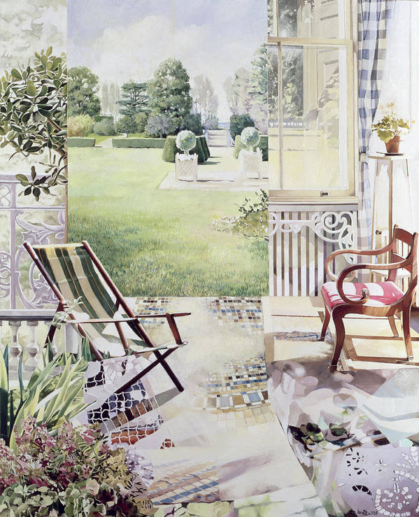 Garden Poster featuring the painting Partie De Campagne by Jeremy Annett