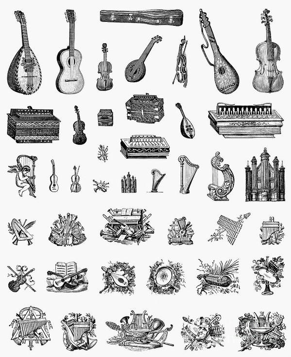 1900 Poster featuring the photograph Musical Instruments by Granger