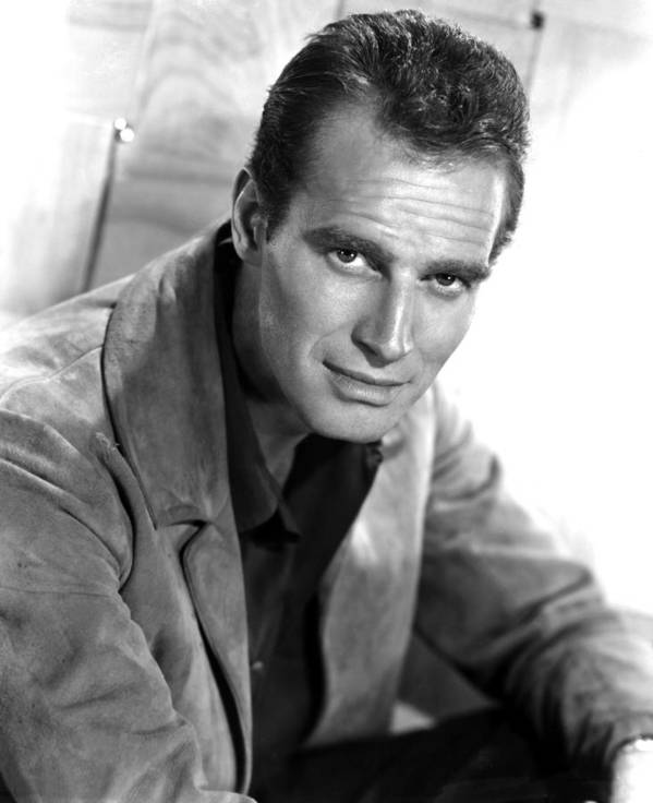 1950s Portraits Poster featuring the photograph Charlton Heston, C. Mid 1950s by Everett