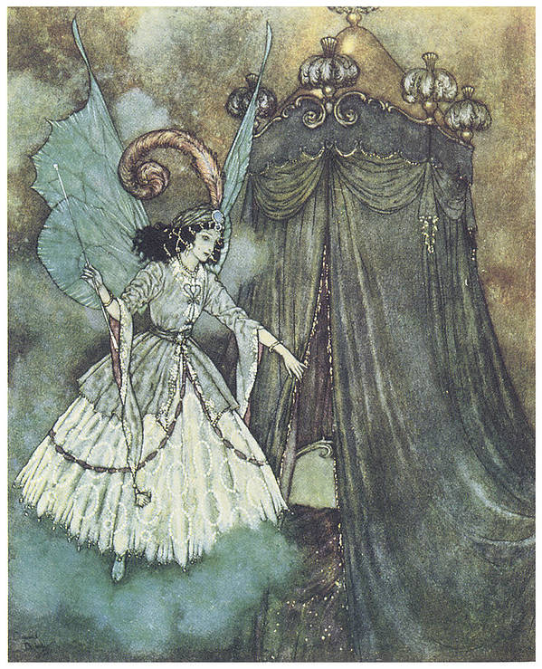 Edmund Dulac Poster featuring the painting Beauty And The Beast by Edmund Dulac