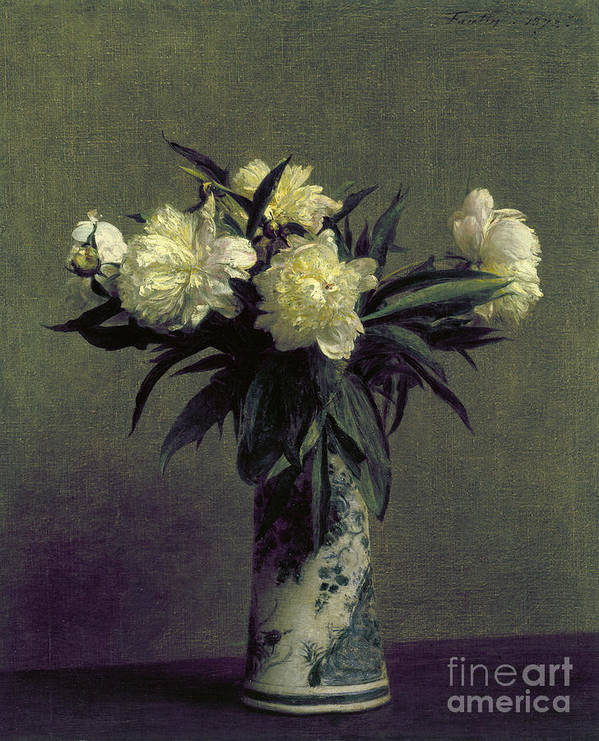 1872 Poster featuring the photograph Fantin-latour: Peonies, 1872 by Granger