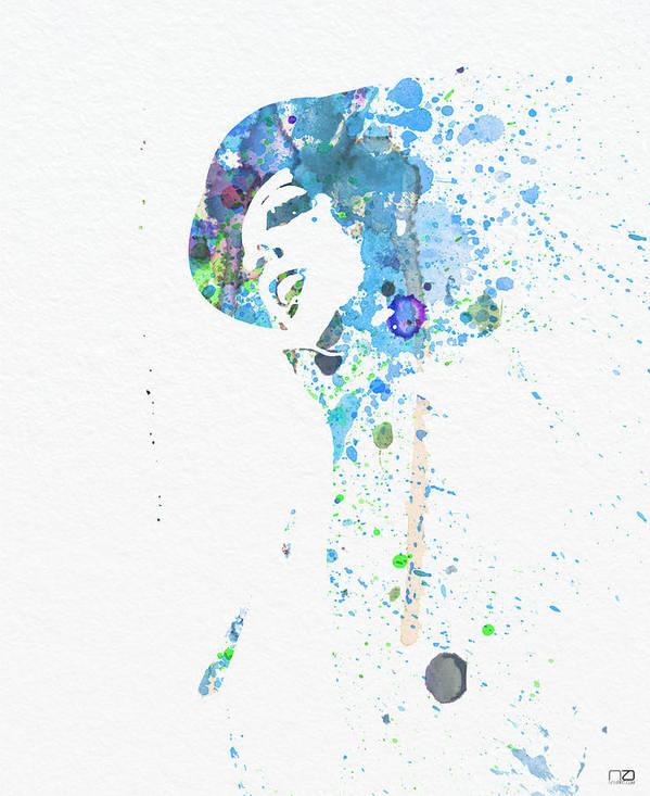 Liza Minnelli Poster Poster featuring the digital art Liza Minnelli by Naxart Studio