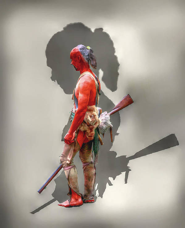 Warrior Poster featuring the digital art Lost Cause Seneca Warrior Ver 2 by Randy Steele