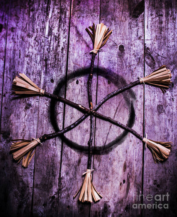 Pagan Or Witchcraft Symbol For A Gathering Poster by Jorgo ...