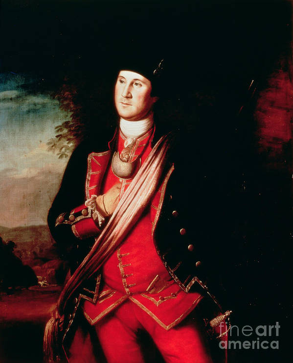 Portrait Poster featuring the painting Portrait Of George Washington by Charles Willson Peale