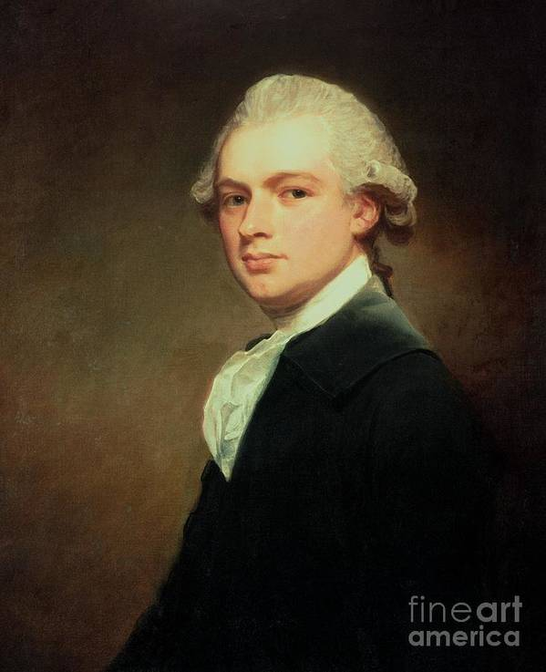 Portrait Of Henry Russell Poster featuring the painting Portrait Of Henry Russell by George Romney