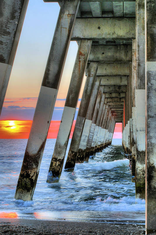 A Wrightsville Beach Morning Poster featuring the photograph A Wrightsville Beach Morning by JC Findley