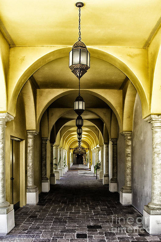 Arches Poster featuring the photograph Arches And Lanterns by Thomas R Fletcher