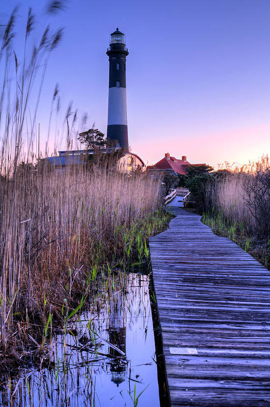 Fire Island Poster featuring the photograph Fire Island Reflections by JC Findley