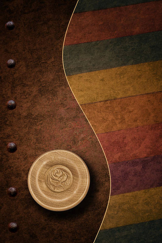Abstract Poster featuring the photograph Rose Button by Tom Mc Nemar