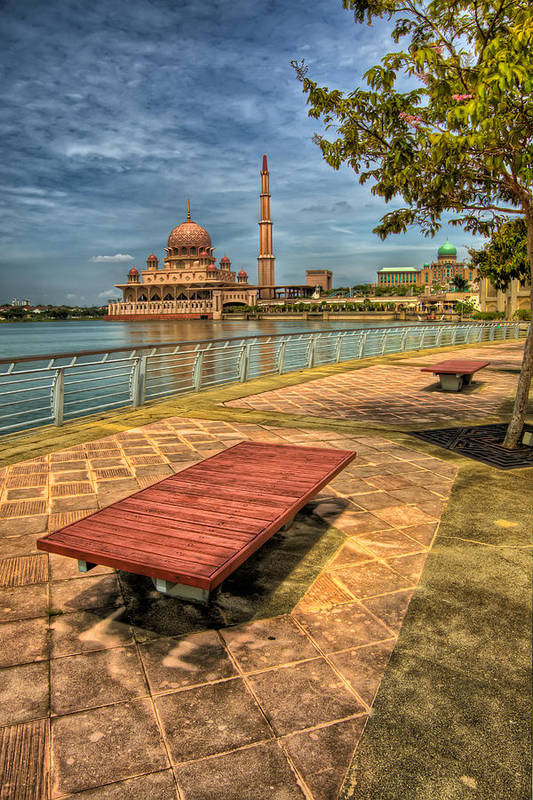 Architecture Poster featuring the photograph Masjid Putra by Adrian Evans