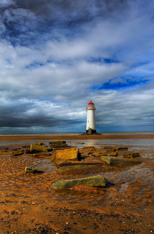 Beach Poster featuring the photograph Point Of Ayr Beach by Adrian Evans