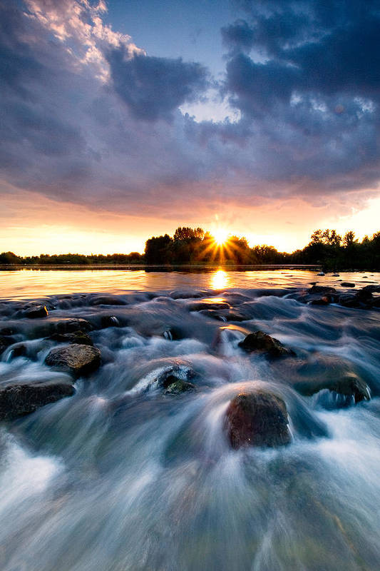 Landscape Poster featuring the photograph Wild River by Davorin Mance