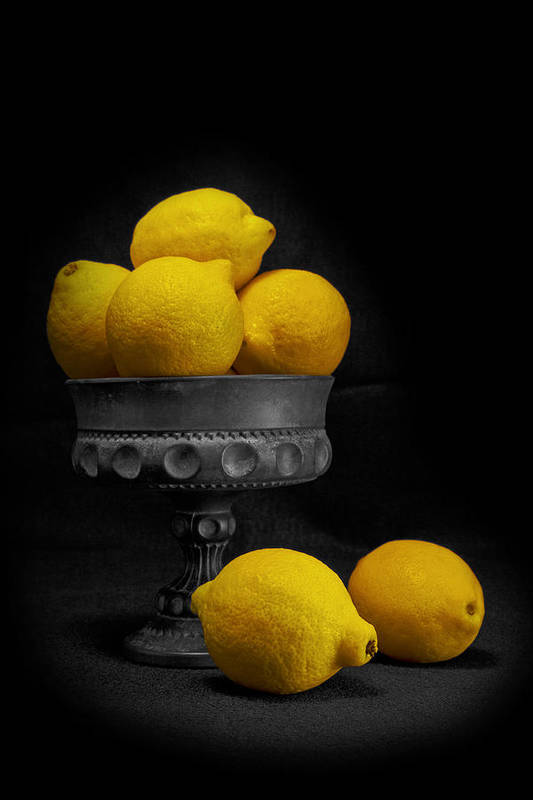 Bowl Poster featuring the photograph Still Life With Lemons by Tom Mc Nemar